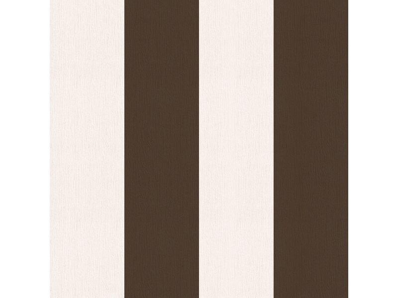 Papier peint intissé basic rayures grainé 1005 x 52cm marron 5627338