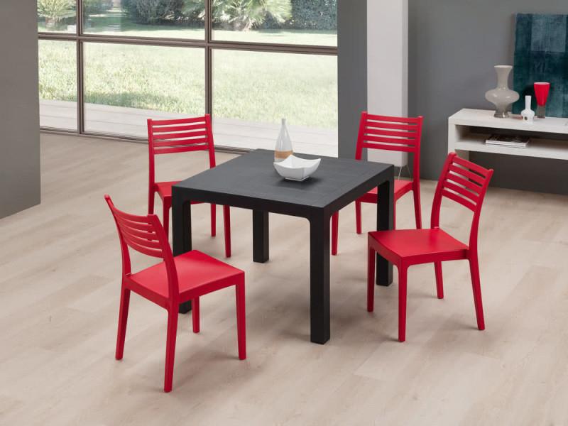 De Jardin Rougex4Olimpia En Design Chaise Lattes Technopolymère W2YbHED9Ie