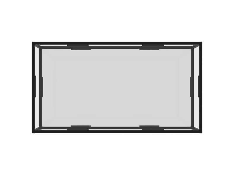 Vidaxl table à thé transparent 120x60x35 cm verre trempé 322902