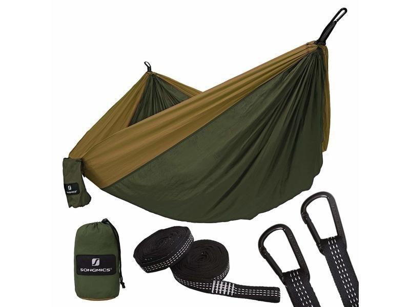 Ultra-léger hamac siège suspendu camping outdoor voyage excursion randonné gdc20ac songmics® Charge Max. 300 kg 2 Personnes en Nylon 2 Sangles et 2 mousquetons