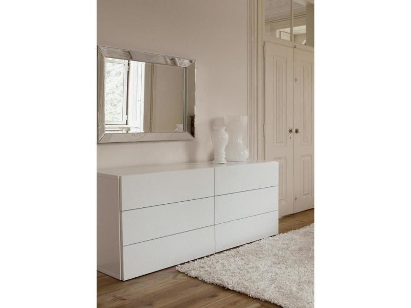 aurora commode blanche mate 6 tiroirs 20100832281 vente de commode conforama. Black Bedroom Furniture Sets. Home Design Ideas
