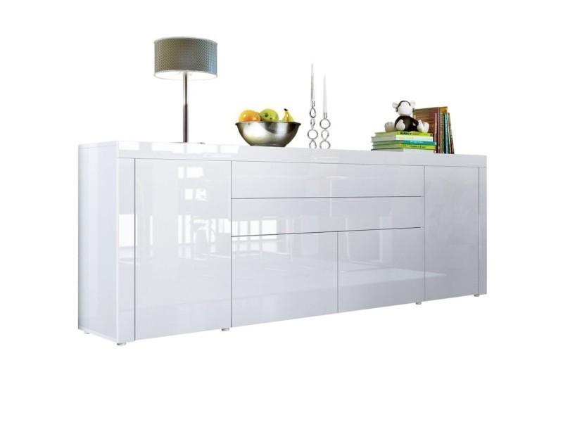 Buffet blanc intégralement laqué 200 cm - Vente de Buffet ...