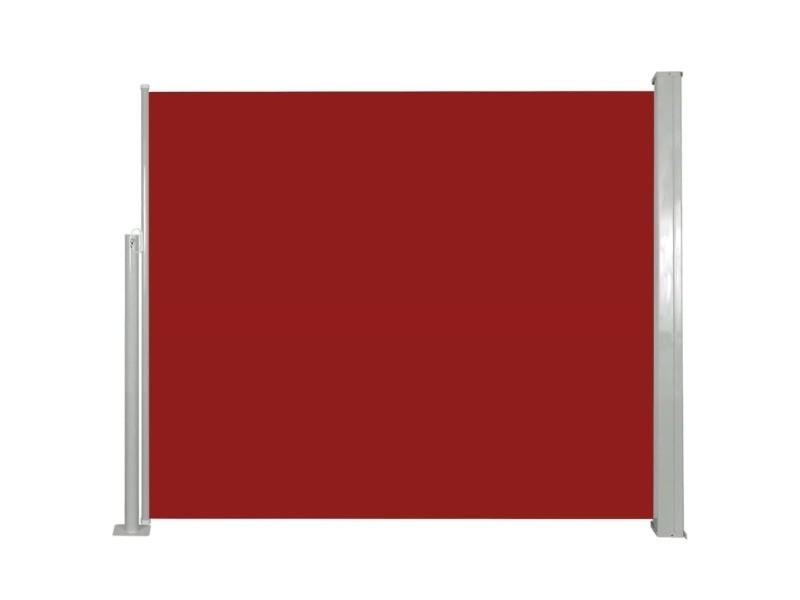 Vidaxl auvent latéral rétractable 120 x 300 cm rouge 45362