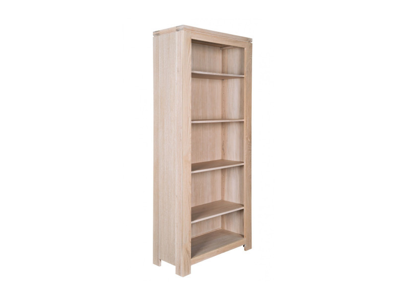 Biblioth que moderne en ch ne blanchi boston vente de for Bibliotheque meuble conforama