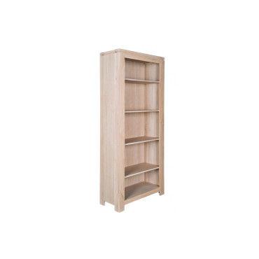 biblioth que moderne en ch ne blanchi boston vente de hellin conforama. Black Bedroom Furniture Sets. Home Design Ideas