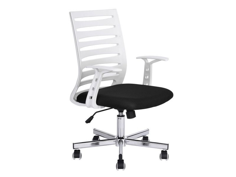 Odan fauteuil de bureau blanc et noir vente de altobuy conforama