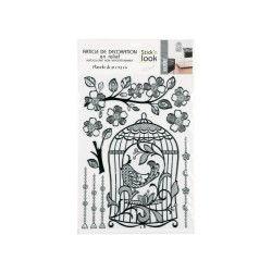 Sticker relief - 30 x 40 cm - cage