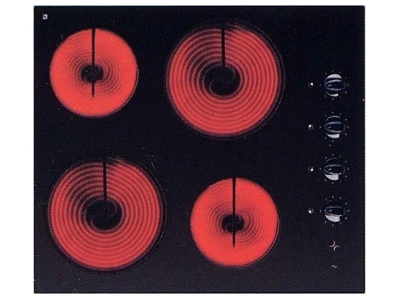 Sogelux table de cuisson vitrocéramique pv124 noire
