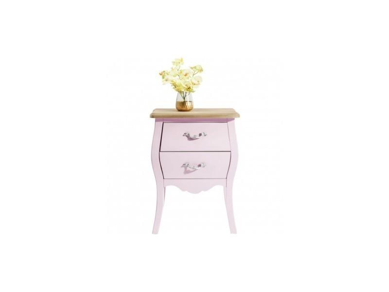 Table De Chevet Rose 2 Tiroirs Romantic Vente De Kare Design