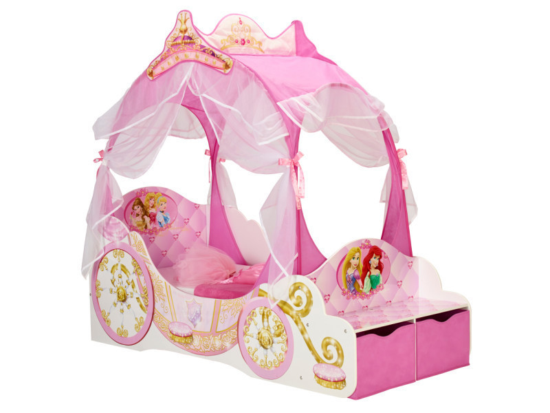 Lit junior carrosse princesses disney 90 * 190 cm - Conforama