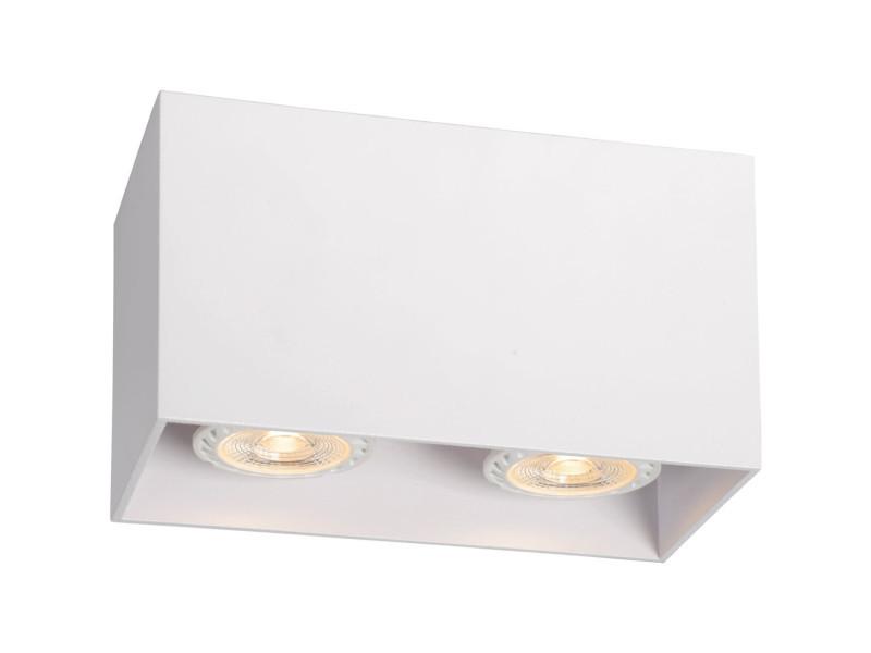 Plafonnier design cubique noir ampoules malicia lp