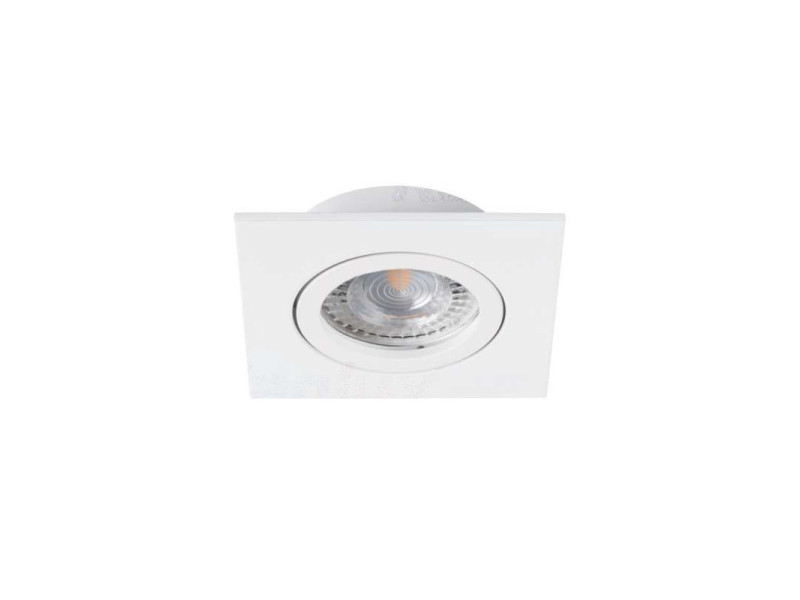 Support de spot encastrable perçage 70mm carré blanc KL-22431