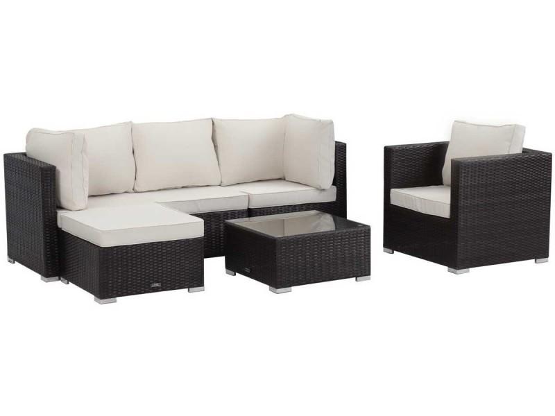 salon de jardin en r sine tress e ibiza buffalo. Black Bedroom Furniture Sets. Home Design Ideas