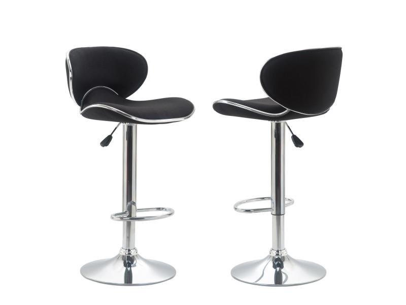 Lot de 2 tabourets de bar lounge chaise haute pour cuisine comptoir r glable en hauteur et for Tabouret haut reglable hauteur