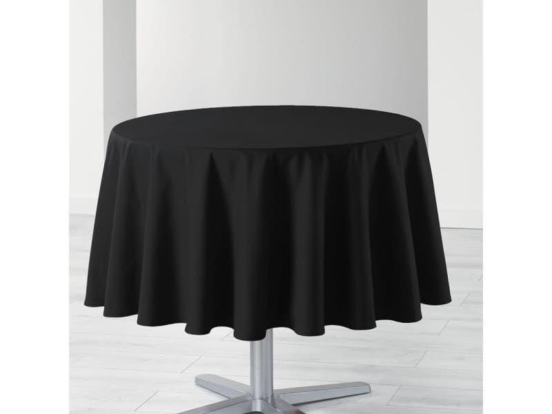 Nappe de table ronde ø180cm essentiel noir antitache