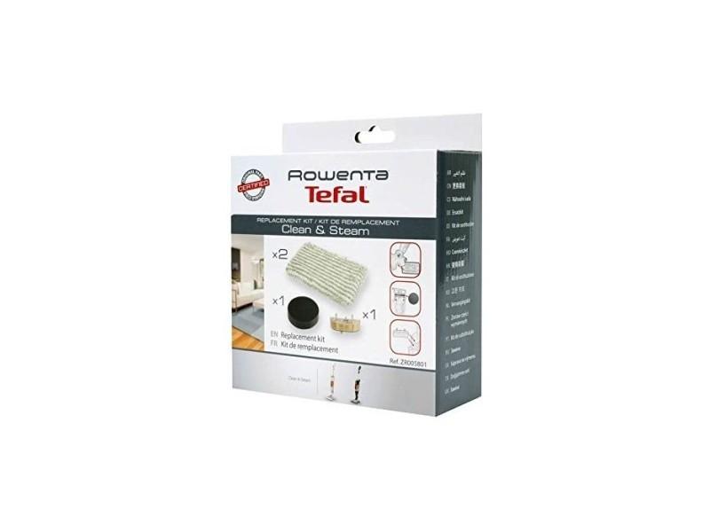 Kit d'entretien filtre mousse + 2 lingettes microfibres + cartouche anti-calcaire pour aspirateurs clean & steam rowenta