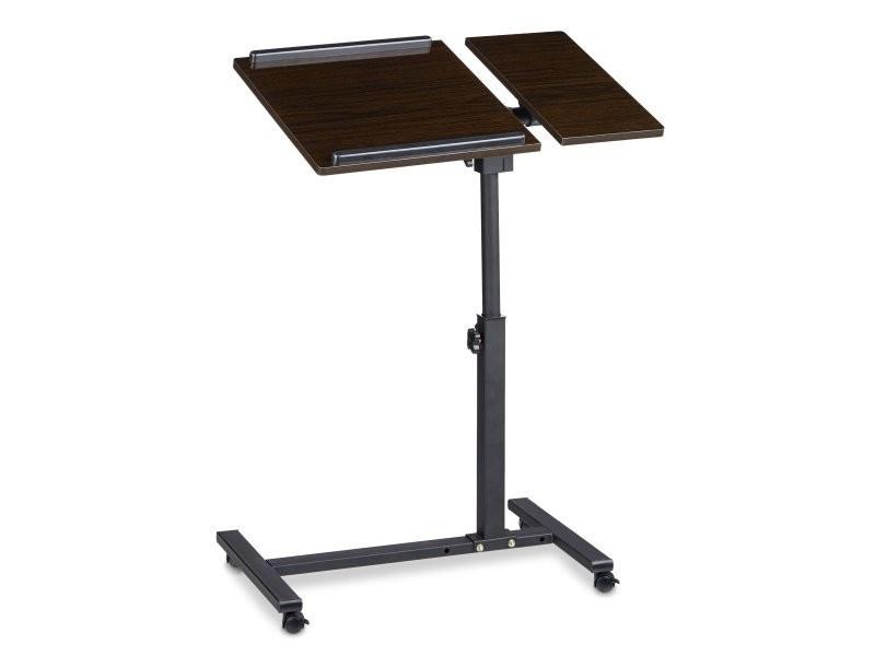 table ordinateur portable netbook sur roulettes helloshop26 2013098 vente de chevet conforama. Black Bedroom Furniture Sets. Home Design Ideas