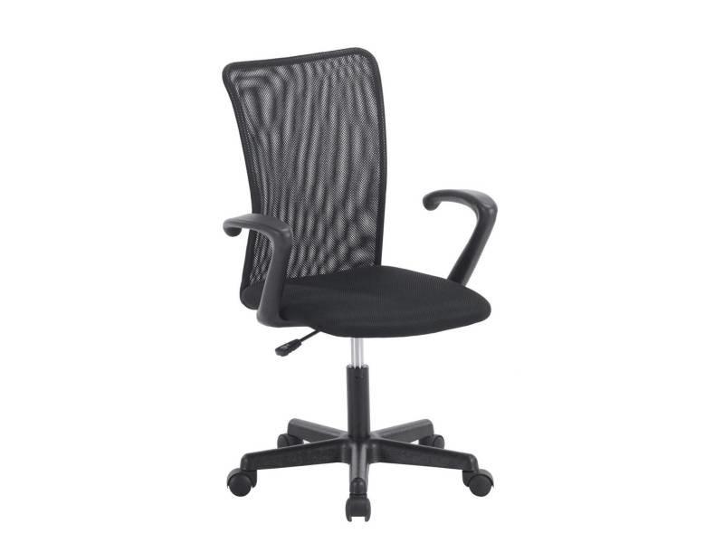 Kayelles laser chaise de bureau junior noir 511 laser noir conforama