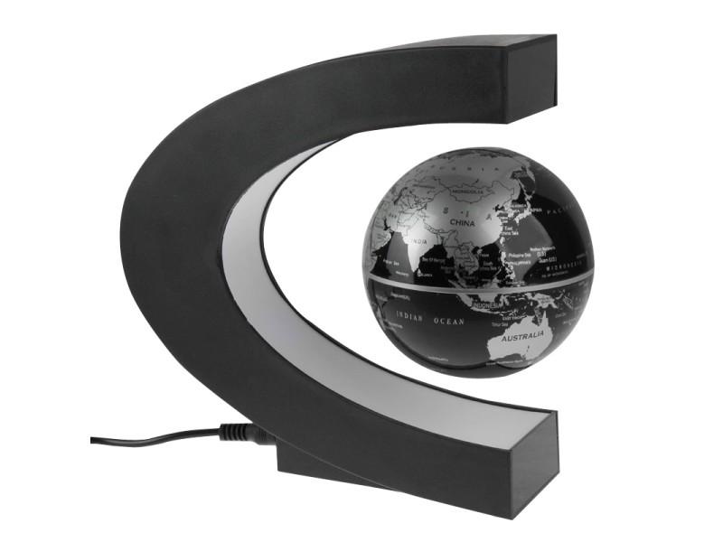 f54638b07217ba Globe terrestre lévitant futuriste led multicolores gadget high-tech 360  degrés - Vente de Autre objet de décoration - Conforama