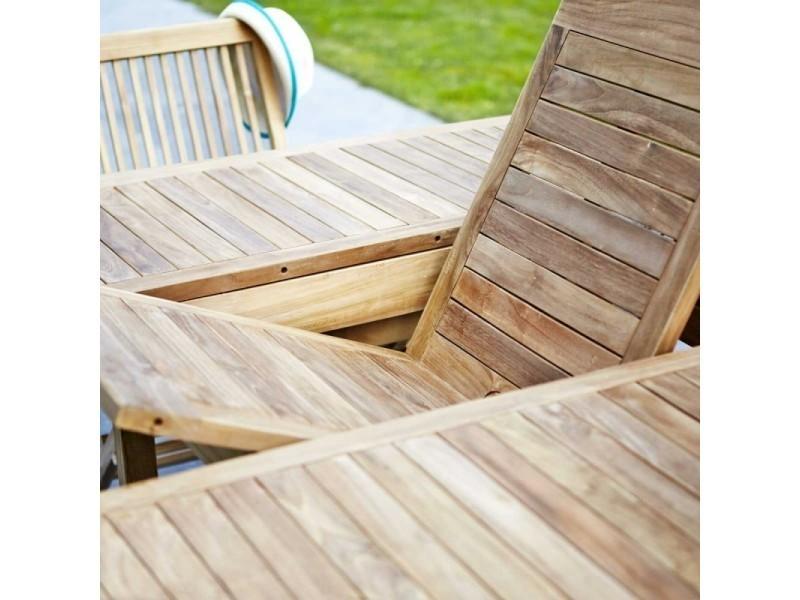 Salon de jardin en bois de teck 8/10 places - Vente de Salon de ...