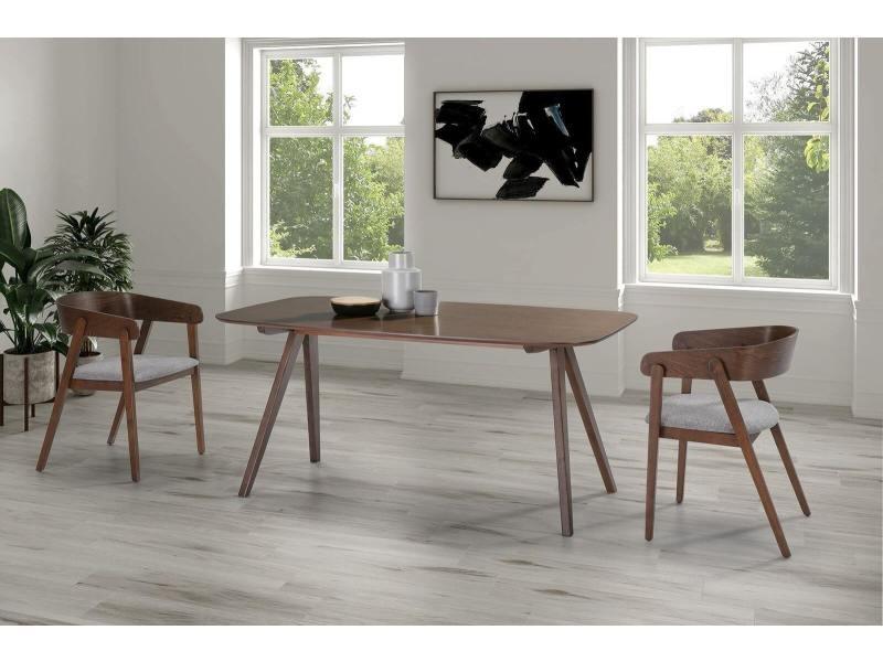 Bobochic table 160 cm finka bois noyer