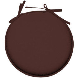Galette de chaise ronde 100% polyester nelson chocolat