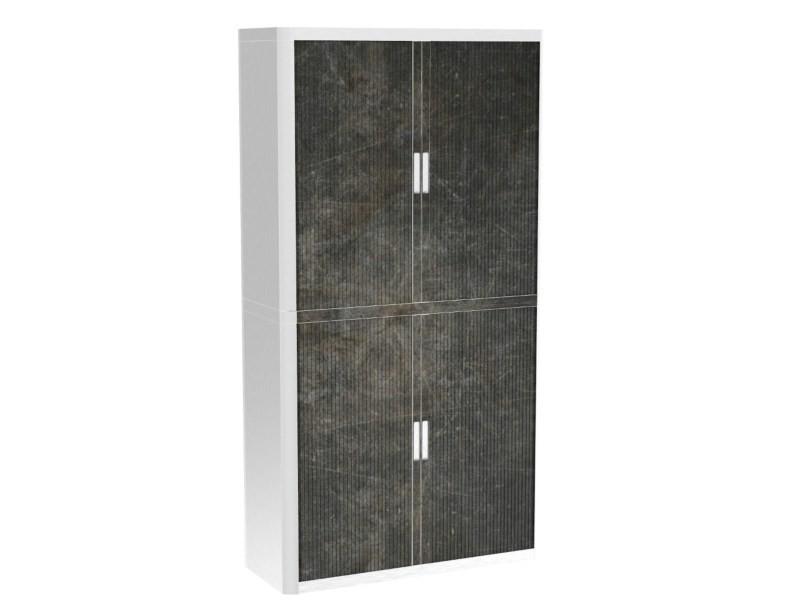Armoire de bureau métalique porte coulissante h 2m - vulnus
