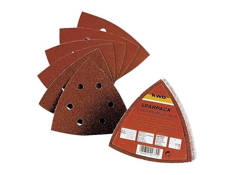 Kwb - 25 patins abrasifs triangulaire bois et métaux diam 105 4927-70