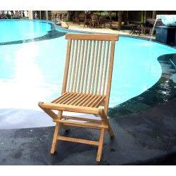 Chaise de jardin en teck : chaise pliante