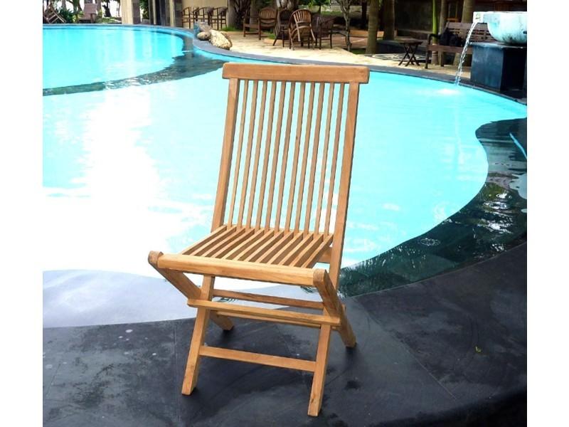 Chaise de jardin en teck : chaise pliante - Vente de Salon ...