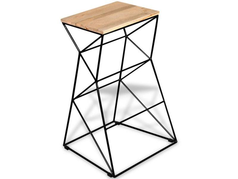Joli fauteuils selection katmandou tabouret de bar bois de