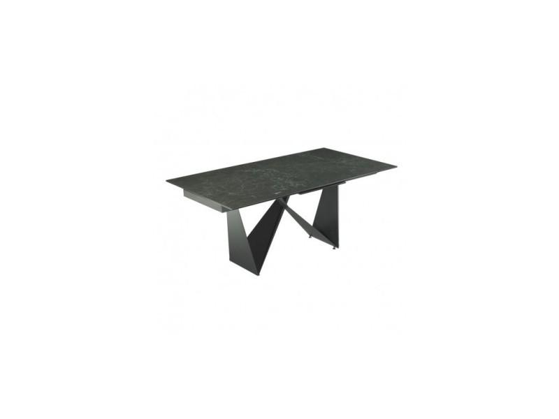 Table céramique noir match 180-230 cm