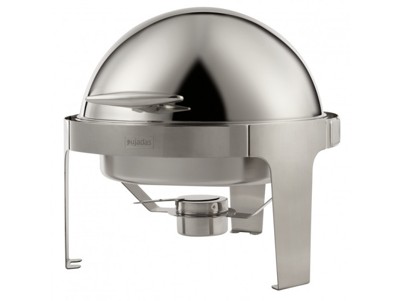 Chafing dish rond avec couvercle roll top 6 l - pujadas - 600 cl
