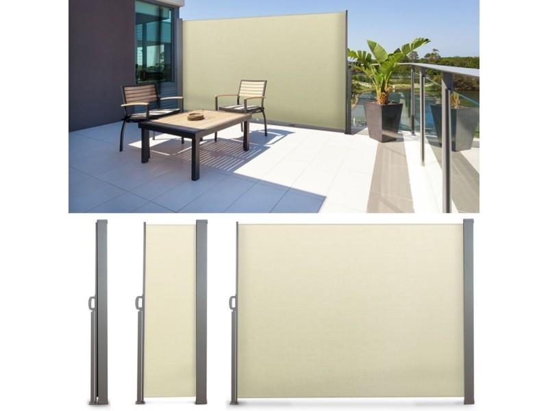 Paravent Extérieur Rétractable 300x180cm écru Store Vertical