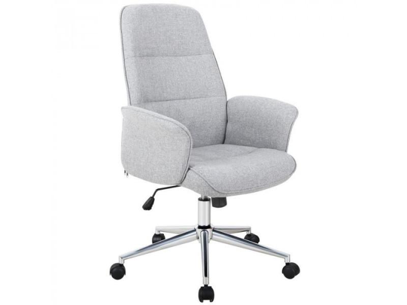 Chaise de bureau jary 2 grise vente de fauteuil de bureau conforama