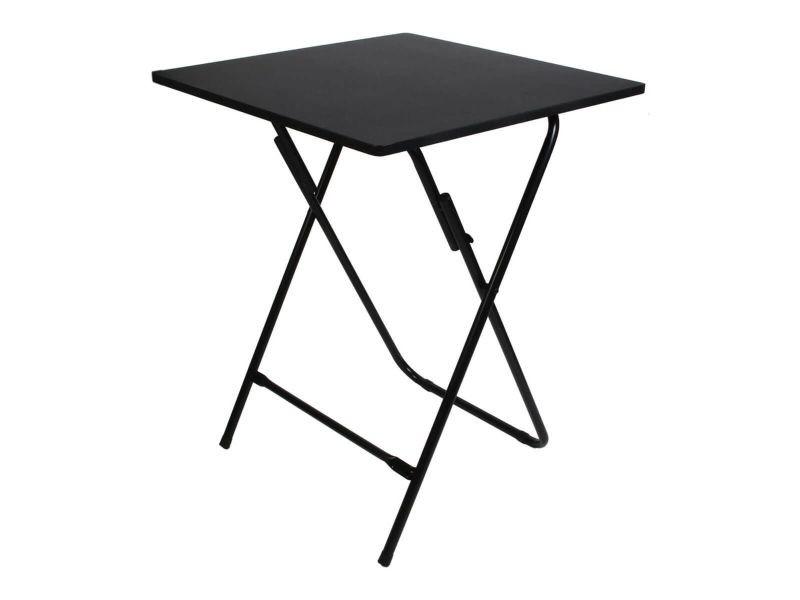 Kalo - table noire carrée plateau pliable