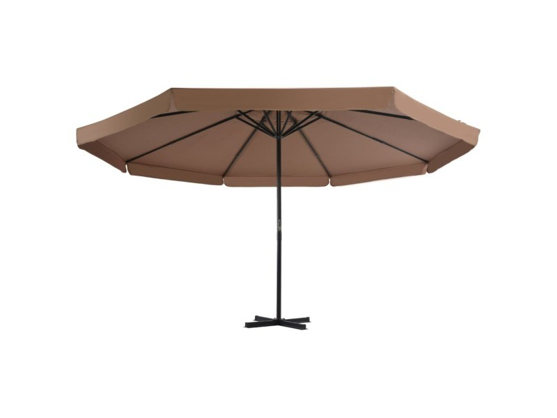Vidaxl parasol avec base portable taupe 276324