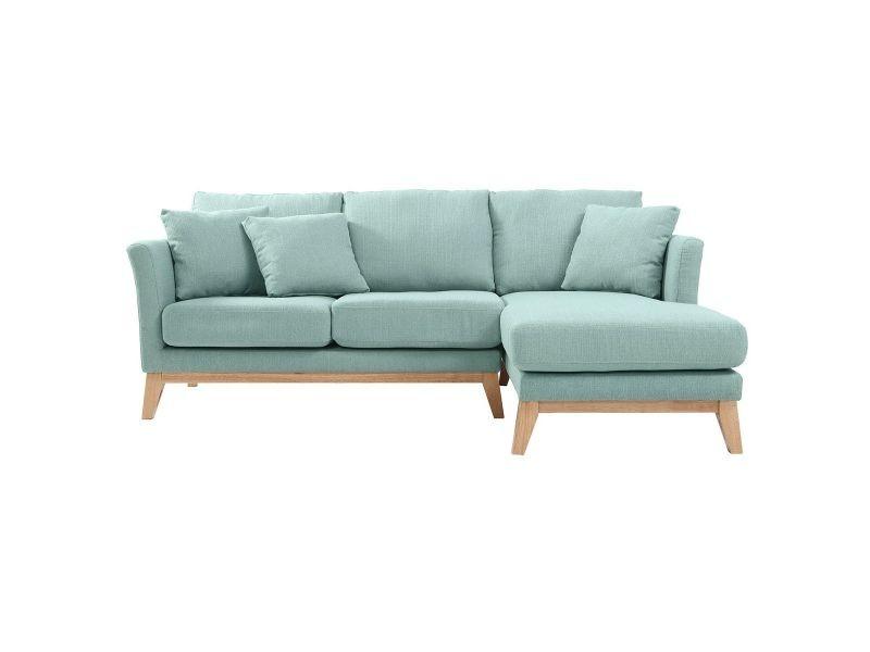 canap d 39 angle droit scandinave vert lagon d houssable oslo vente de canap droit conforama. Black Bedroom Furniture Sets. Home Design Ideas