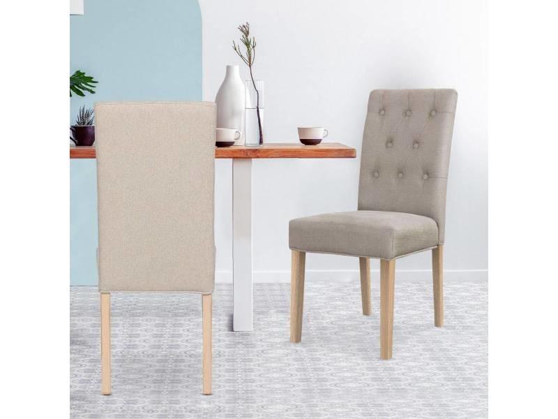 Lot de 2 chaises costel tissu beige Vente de MENZZO