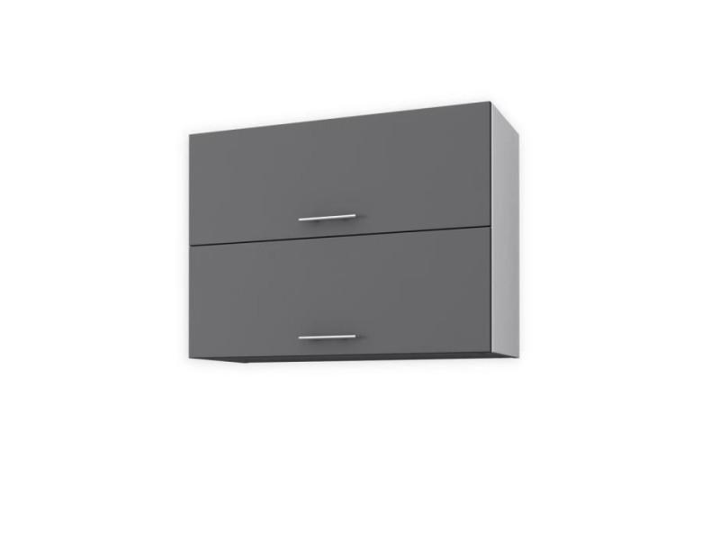 Obi meuble haut de cuisine l 80 cm - gris mat - Vente de ...