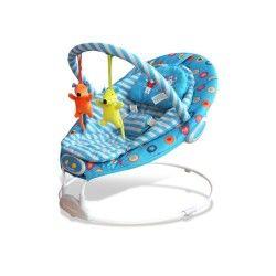 Transat musical et vibrant Baby Fox Excellent Mice Bleu