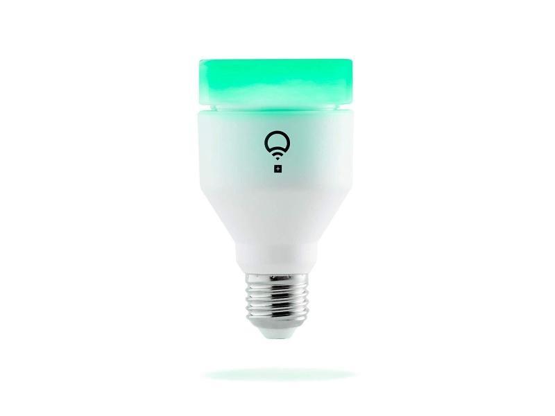 Lifx + (e27) ampoule led connectée wi-fi avec lumière infrarouge pour vision nocturne, ajustable, multicouleur, variable, pas de hub requis, fonctionne avec alexa, apple homekit et google assistant