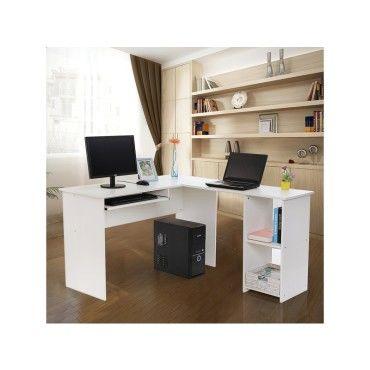 superbe bureau informatique d 39 angle blanc neuf sglcd810w vente de rocambolesk conforama. Black Bedroom Furniture Sets. Home Design Ideas