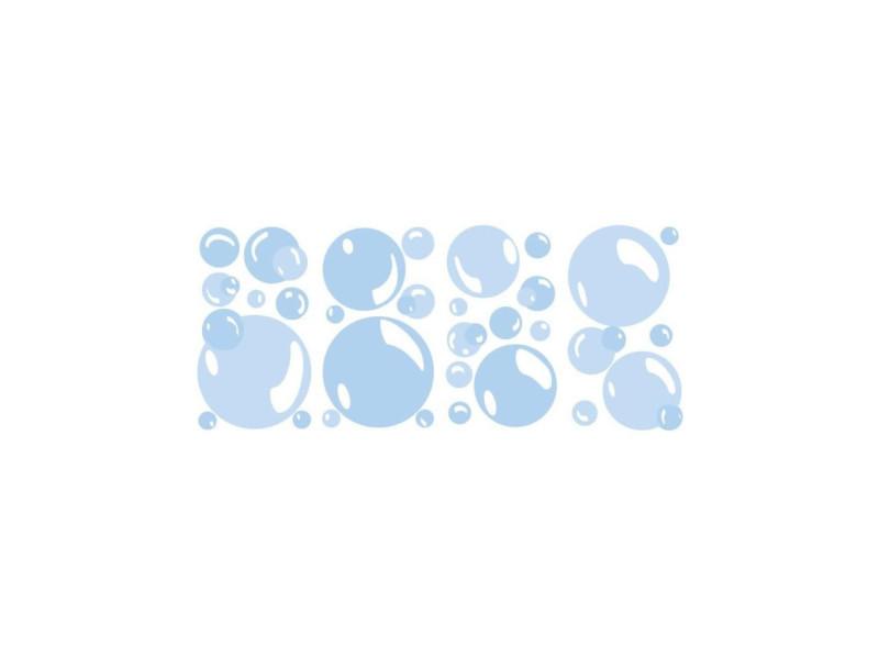 Roommates lot de 31 stickers bulles de savon repositionnables