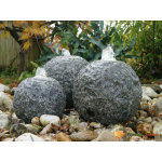 Fontaine de jardin en pierre grise aquaarte kozani led