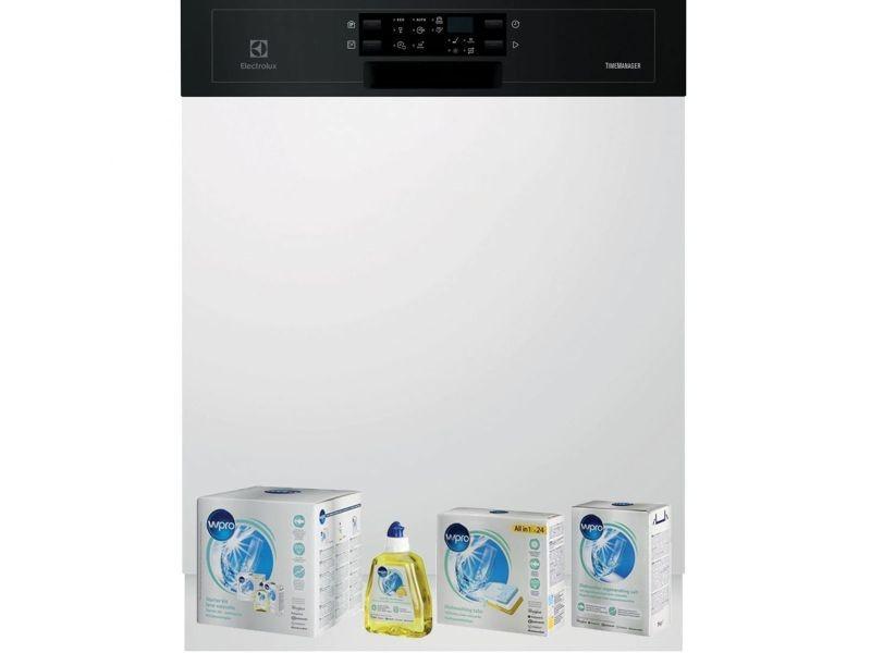 Lave-vaisselle intégrable encastrable bandeau noir 44db a++ 13 couverts 60cm airdry