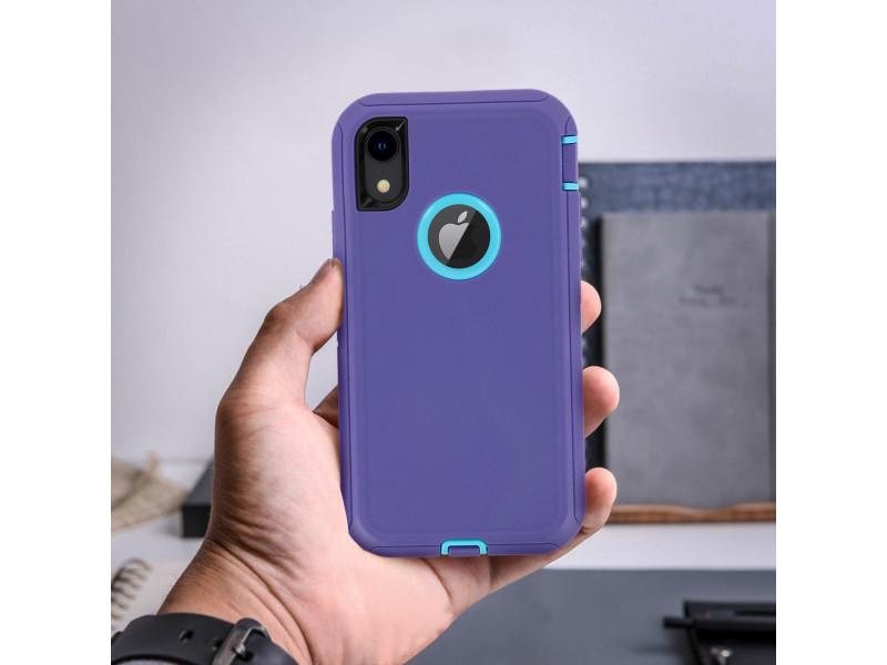coque iphone xr bleu violet