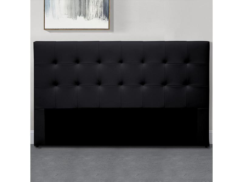 Tête de lit capitonnée capitole - noir - 140 cm