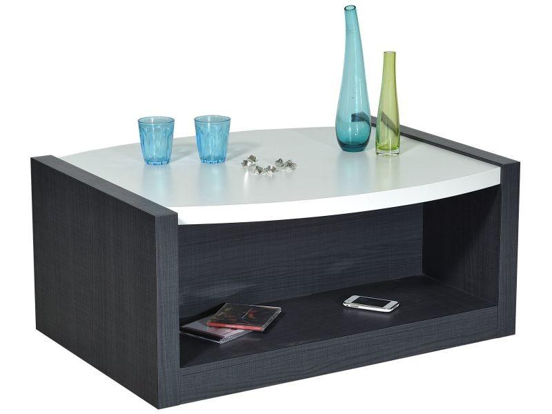 Basse LaquéP Gris Co Anthracite Table Et Blanc Eclypse 7668 vm8n0ywPNO