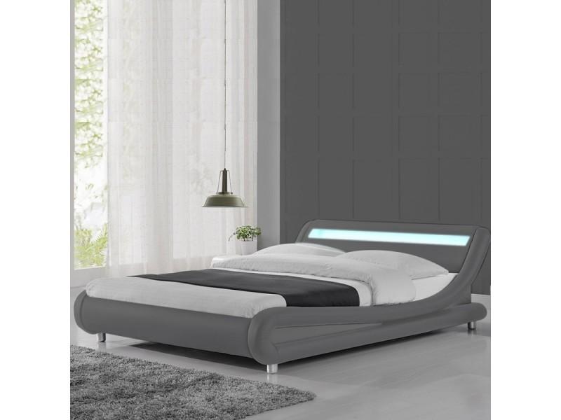 Lit led design julio - gris - 140x190